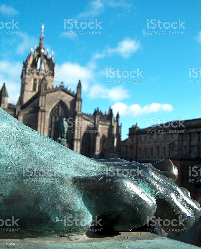 Foot of Statue royalty-free stock photo
