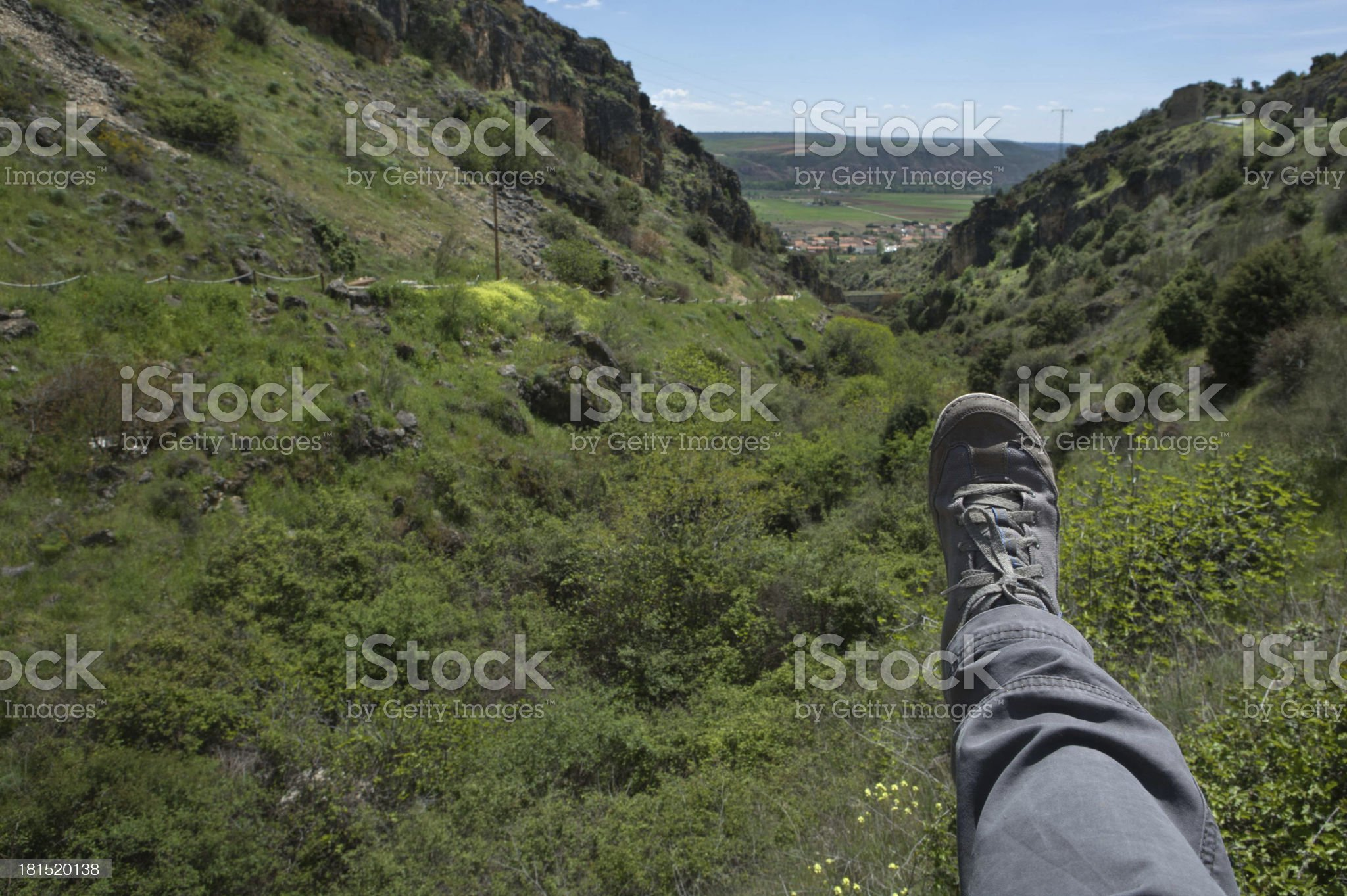 Foot on the mountains royalty-free stock photo