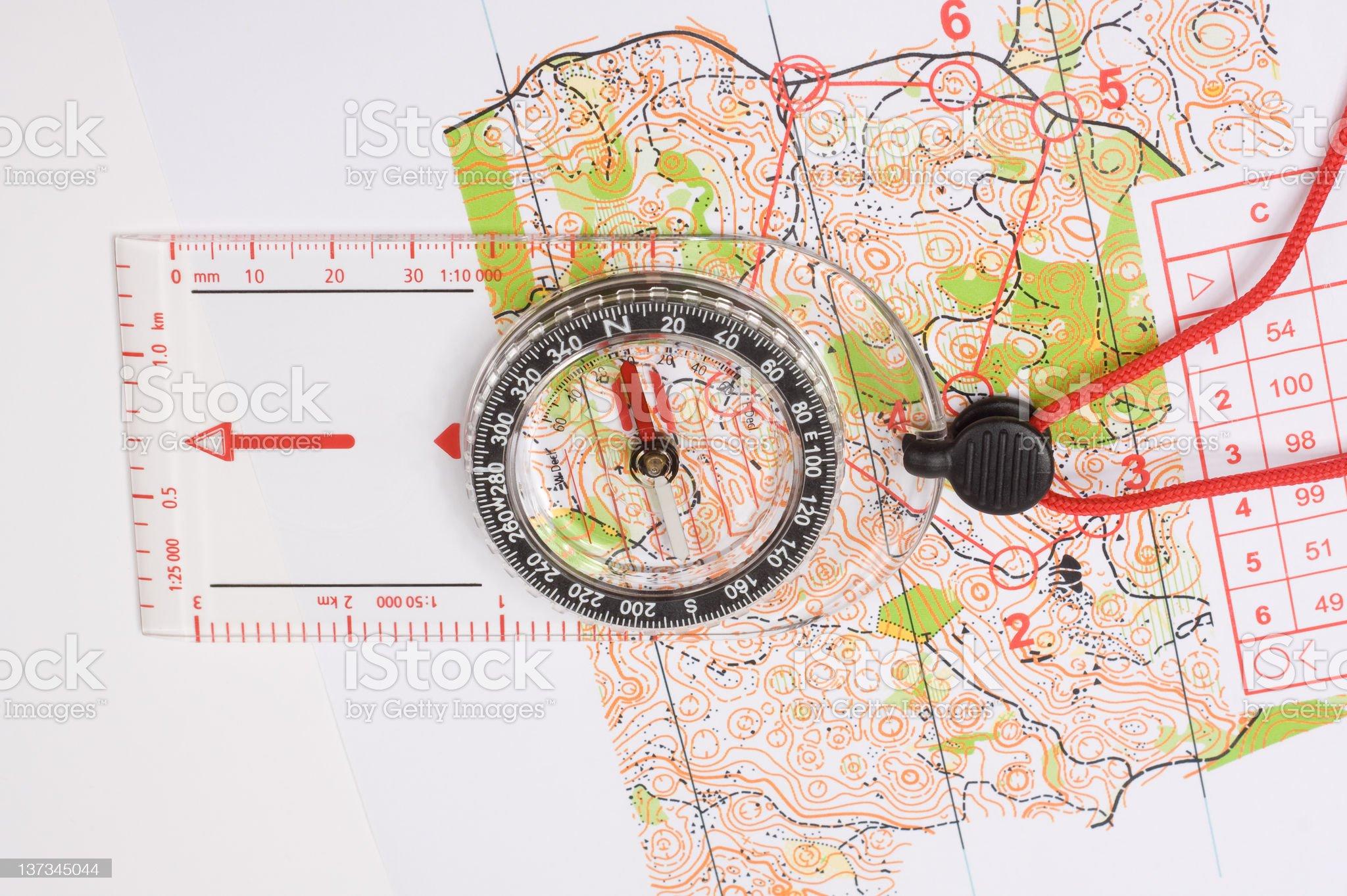 Foot Orienteering royalty-free stock photo