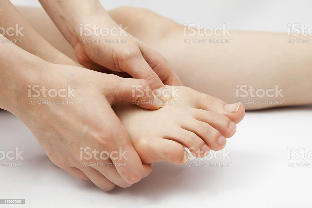 foot pain royalty-free stock photo