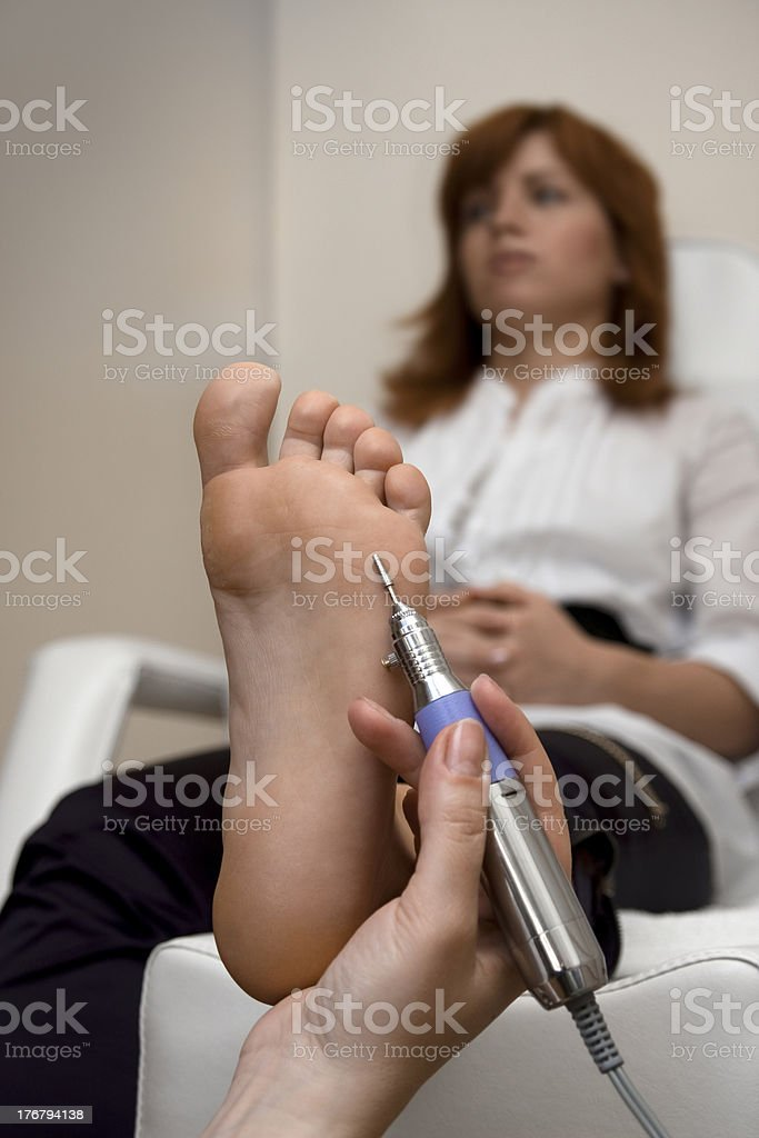 Foot Peeling stock photo