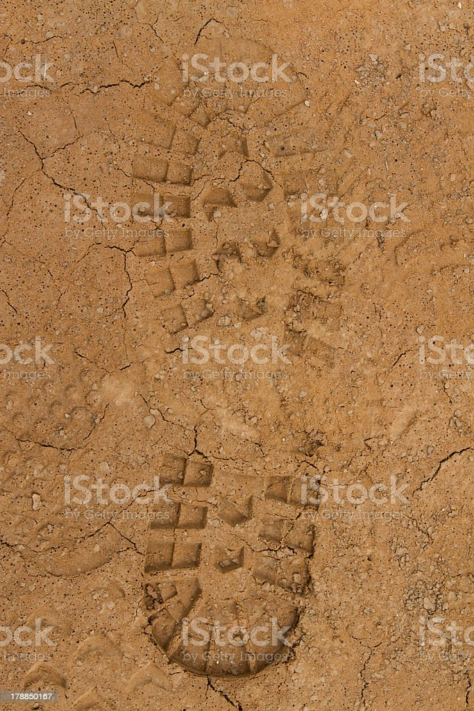 Foot print stock photo