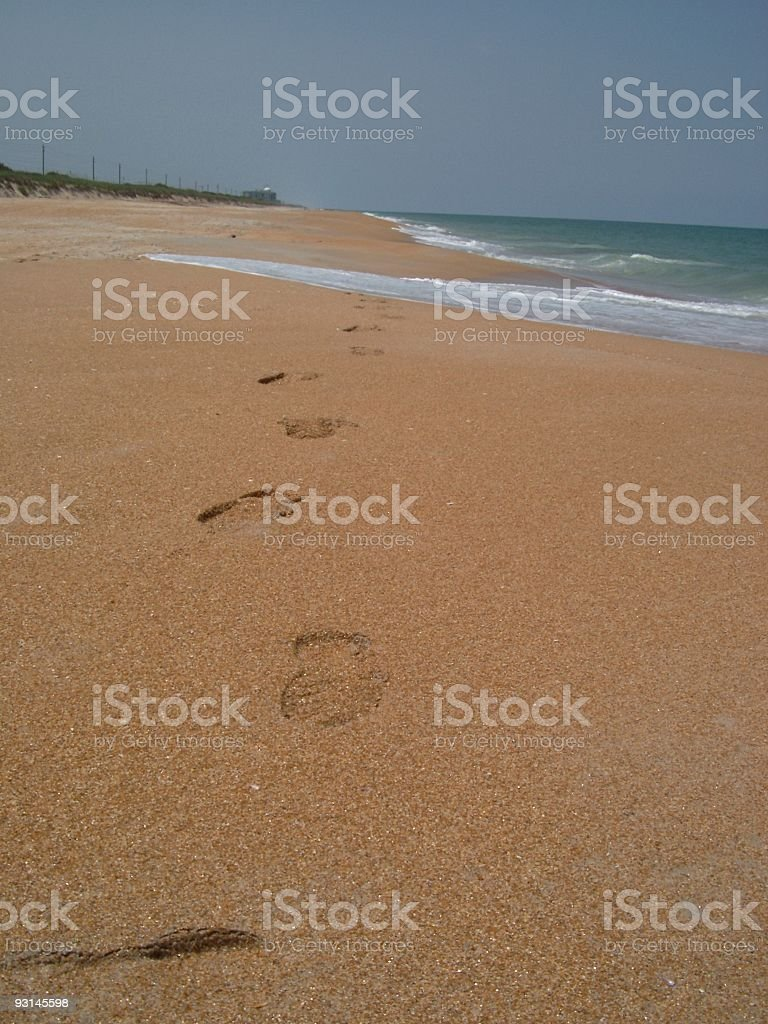 foot prints on the beach IV royalty-free stock photo