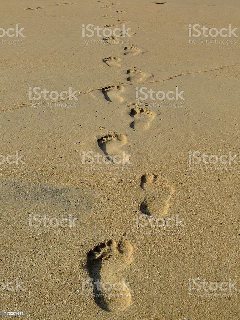 Foot prints. royalty-free stock photo