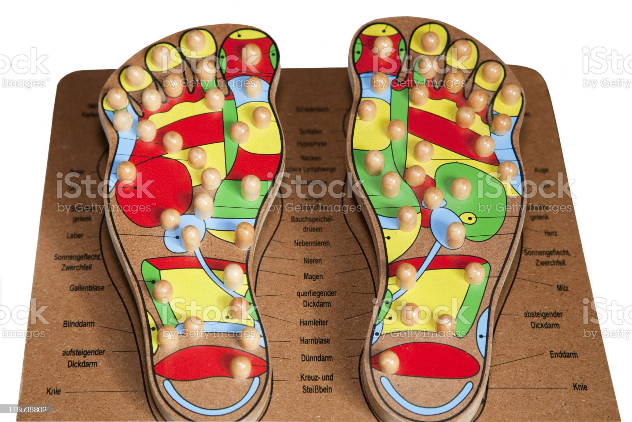 Foot Reflexology royalty-free stock vector art