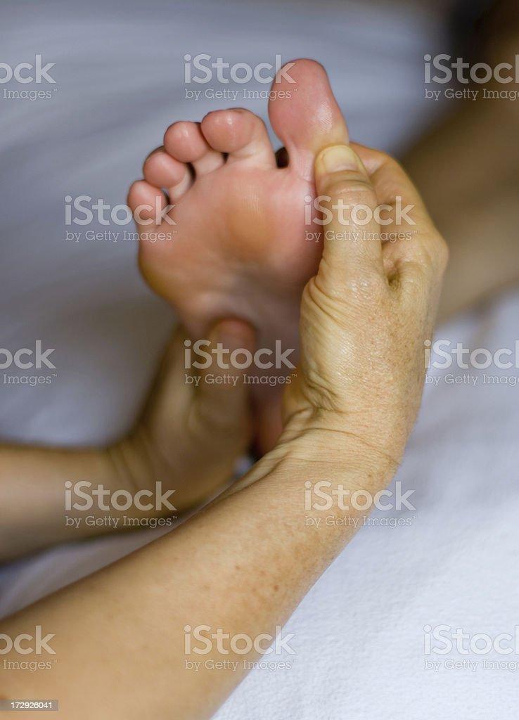 foot reflexology royalty-free stock photo