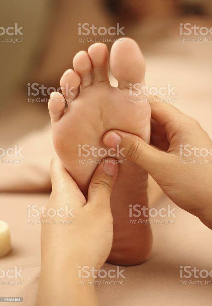 foot reflexology royalty-free stock photo