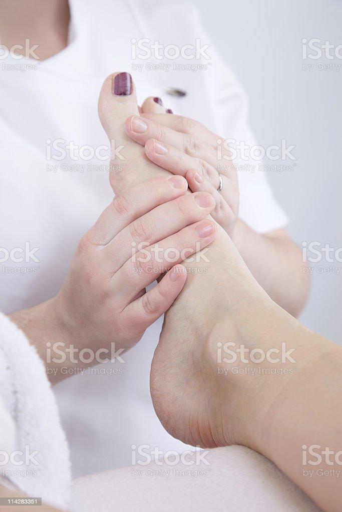 Foot Rub... royalty-free stock photo