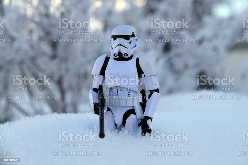 Foot Soldier in the Snow stock photo