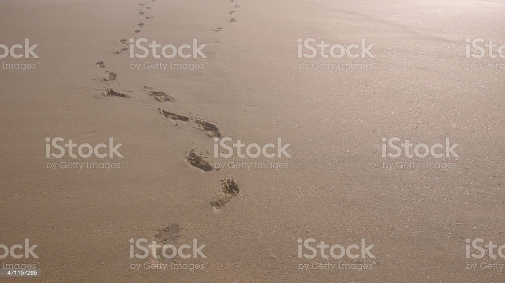 Foot steps stock photo