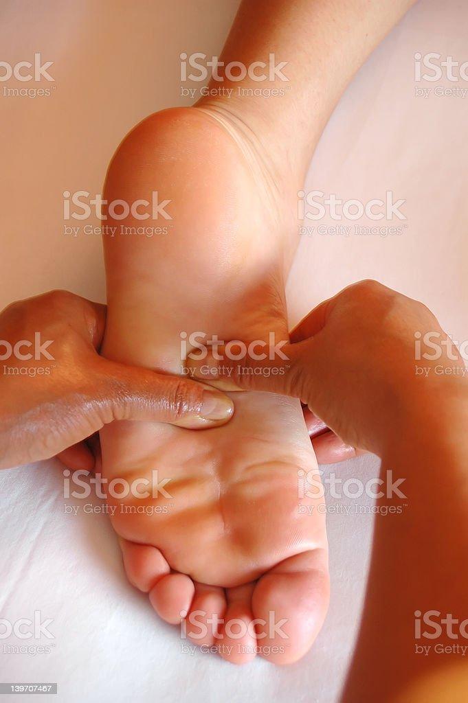 foot thai massage royalty-free stock photo