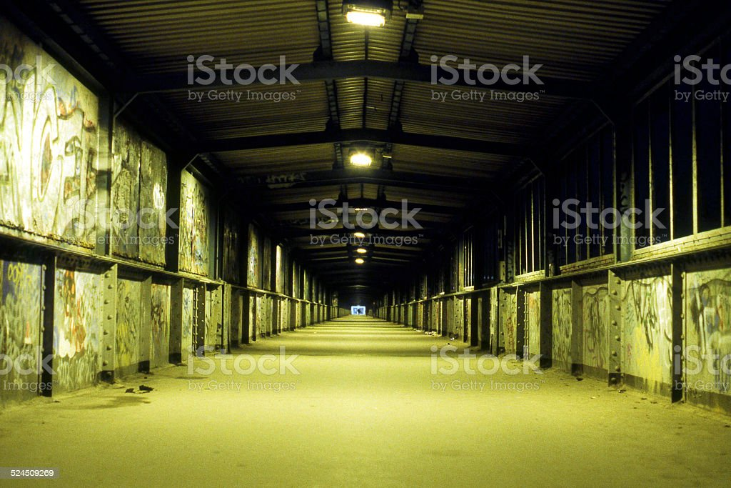 Foot Tunnel stock photo