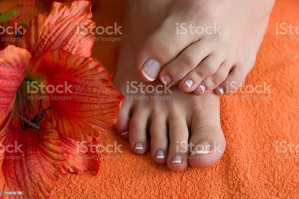 foot with pedicure royalty-free stock photo