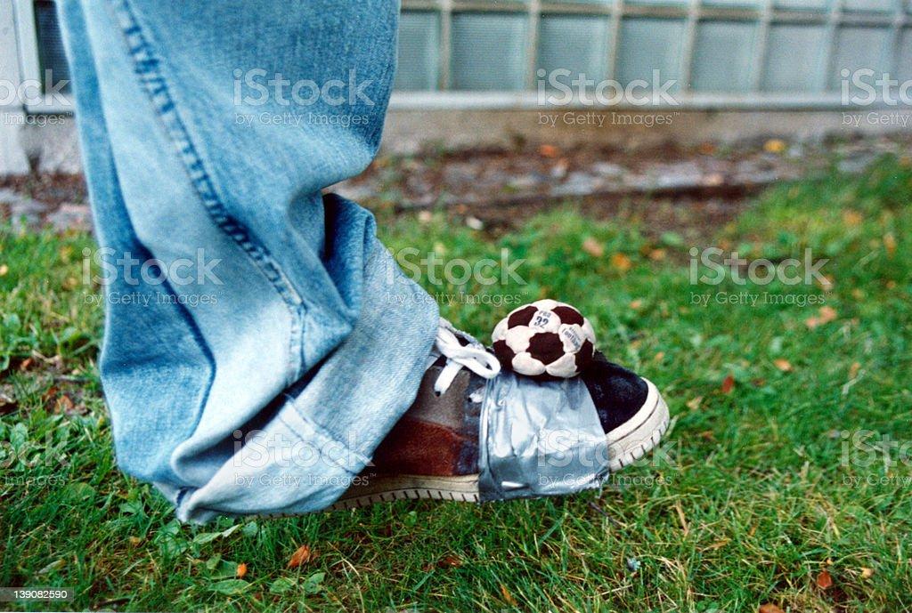 Footbag foot stock photo