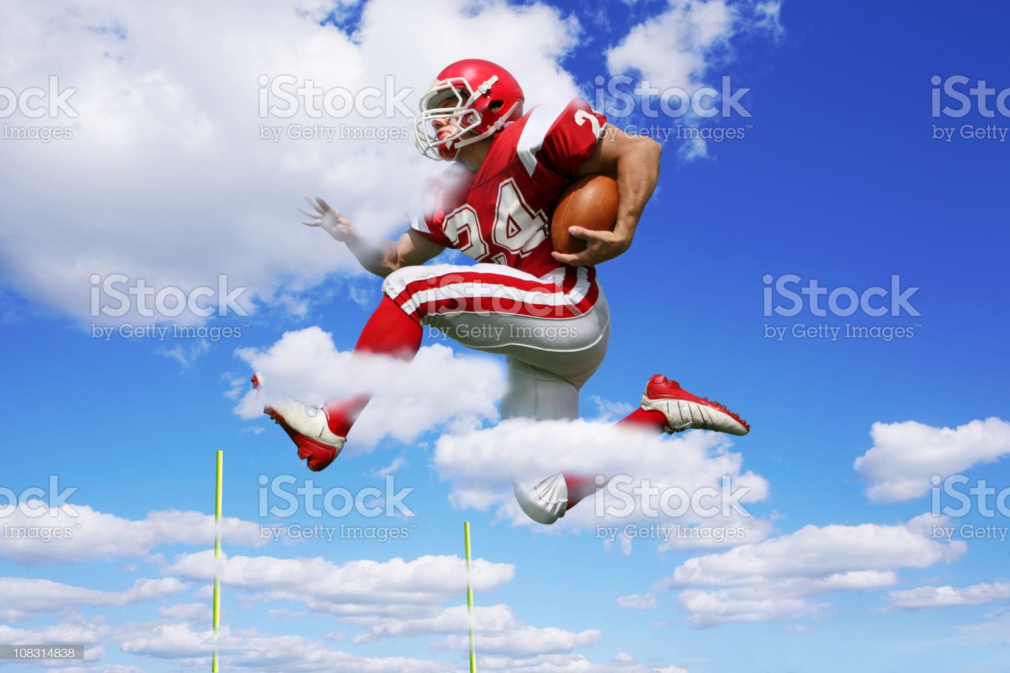 Footbal Player Making Fantastic Run royalty-free stock photo