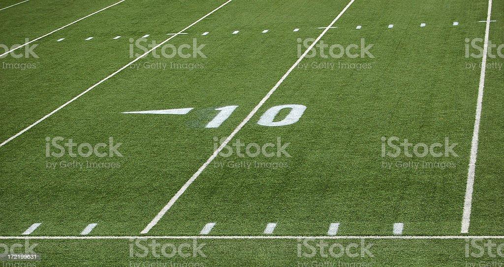football 10 yard line royalty-free stock photo