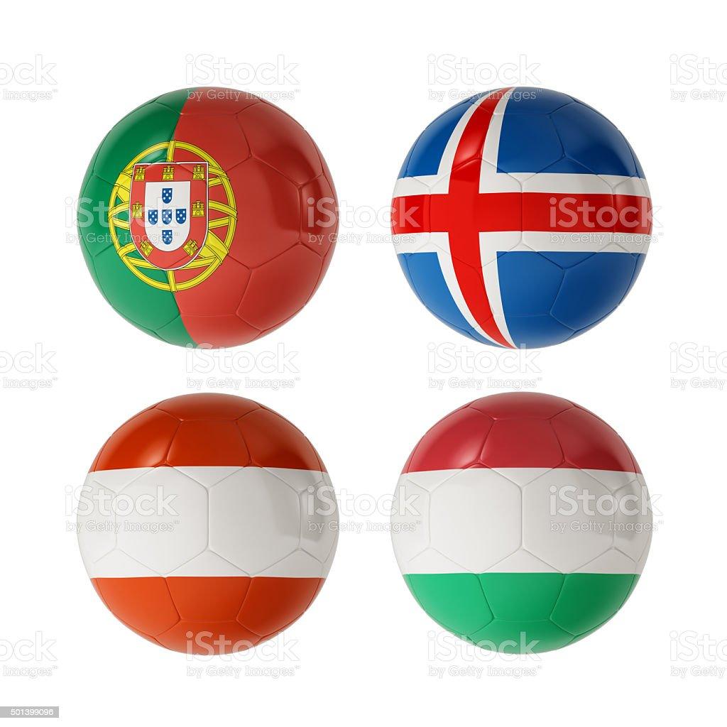 Football 2016 Group F stock photo