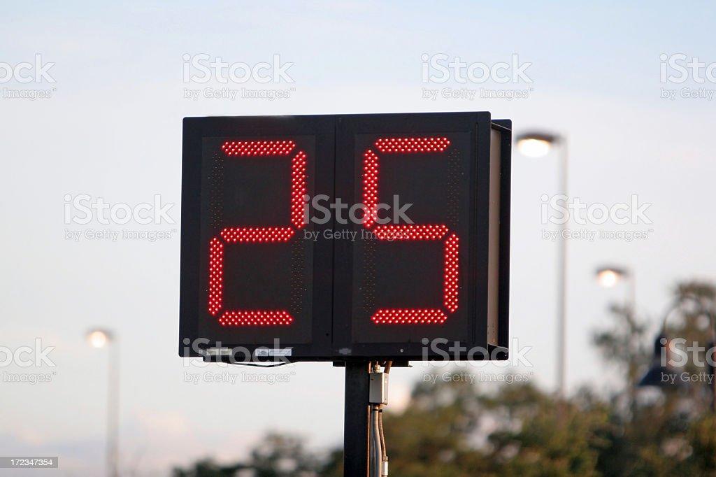 Football 25 Second Clock royalty-free stock photo
