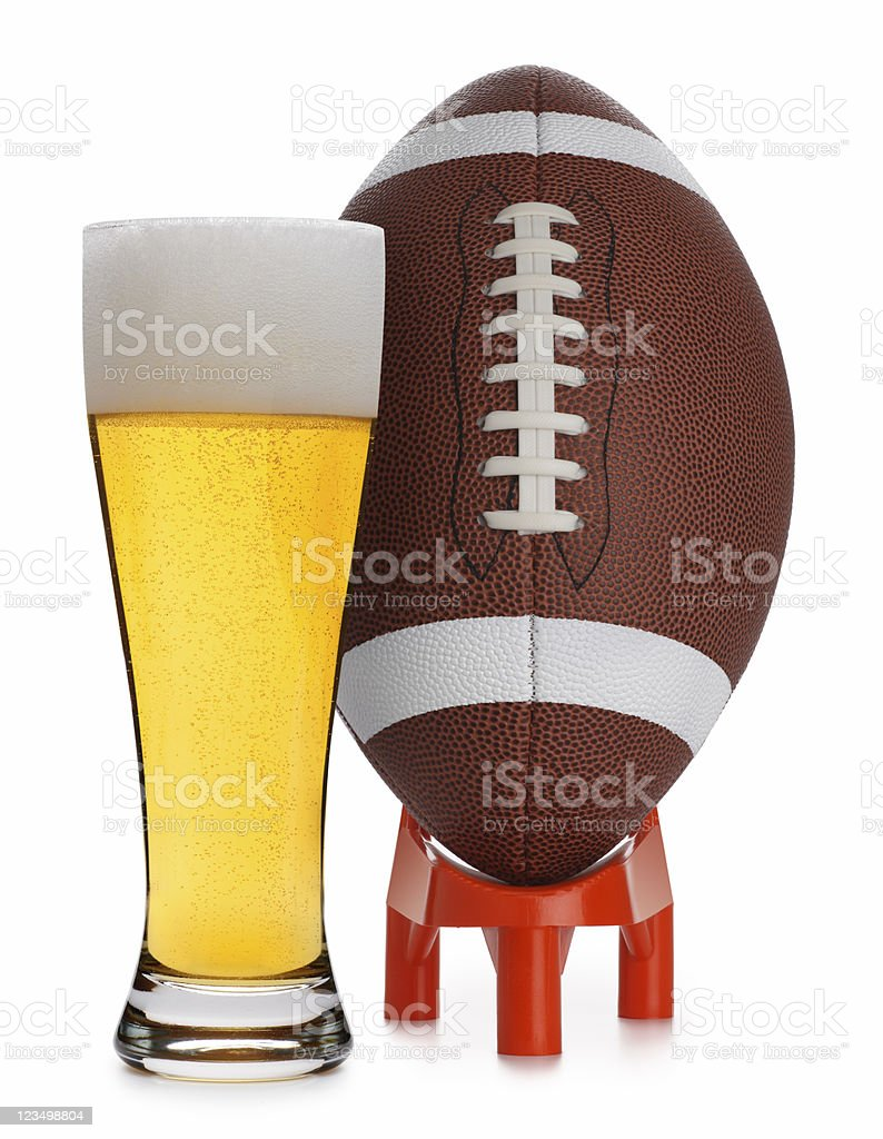 Football and Beer royalty-free stock photo