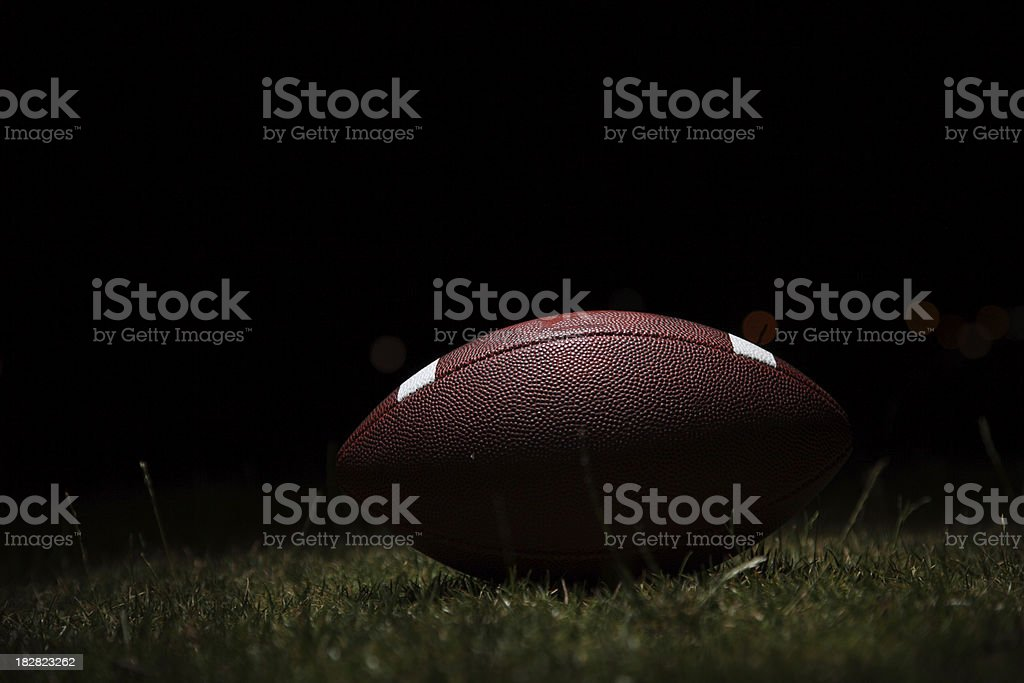Football and field goal royalty-free stock photo