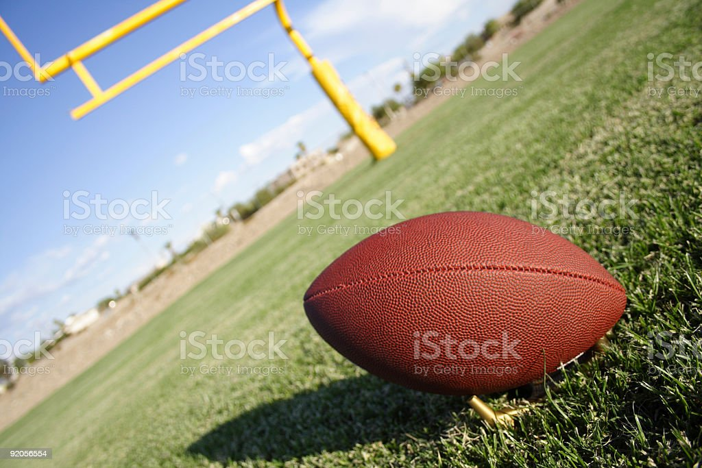 Football and fieldgoal stock photo