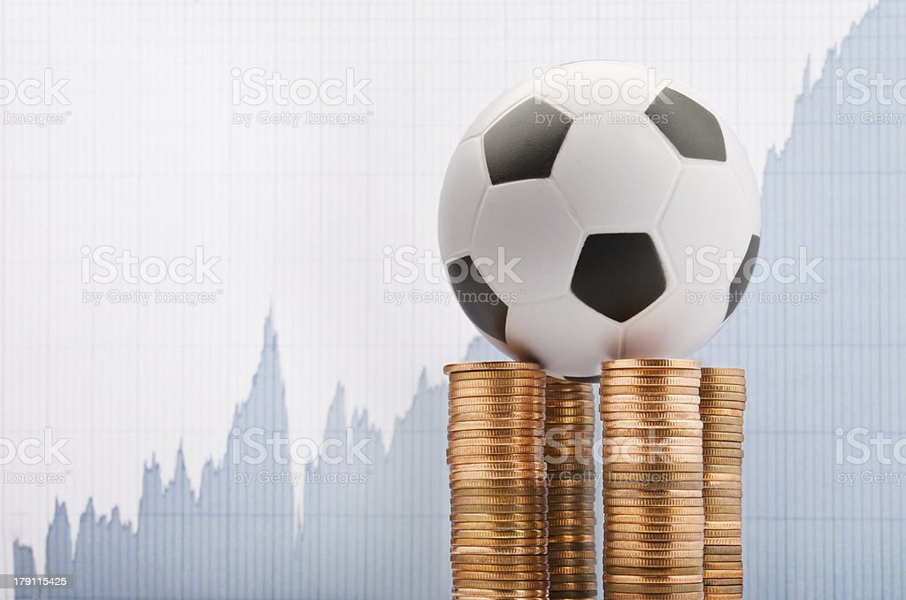 Football and money royalty-free stock photo