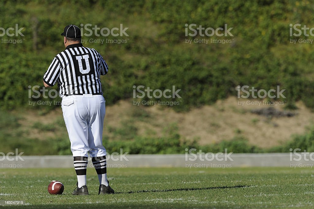 Football and Referee stock photo