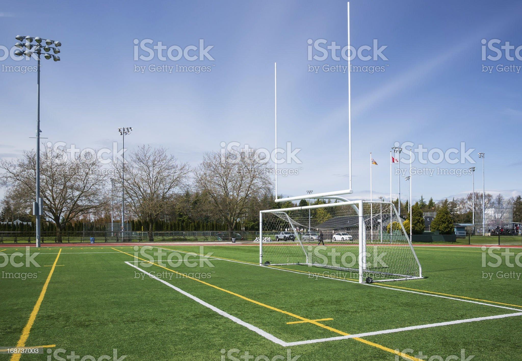 Football and soccer gates royalty-free stock photo