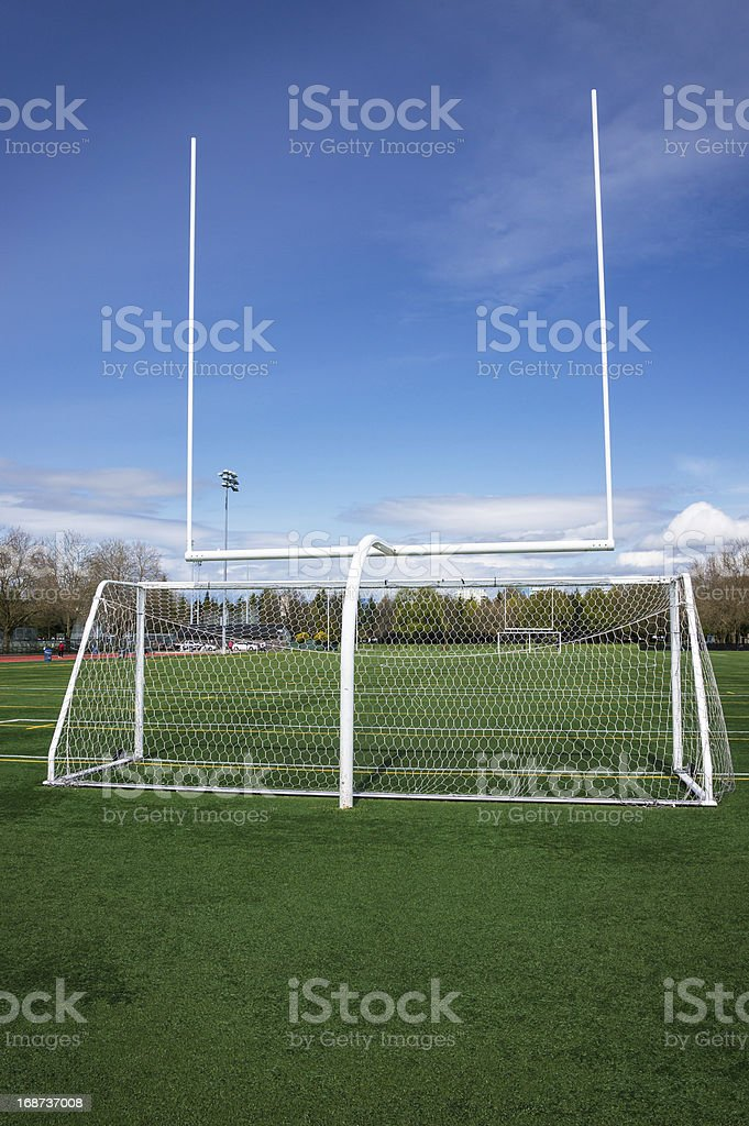 Football and soccer gates royalty-free stock photo