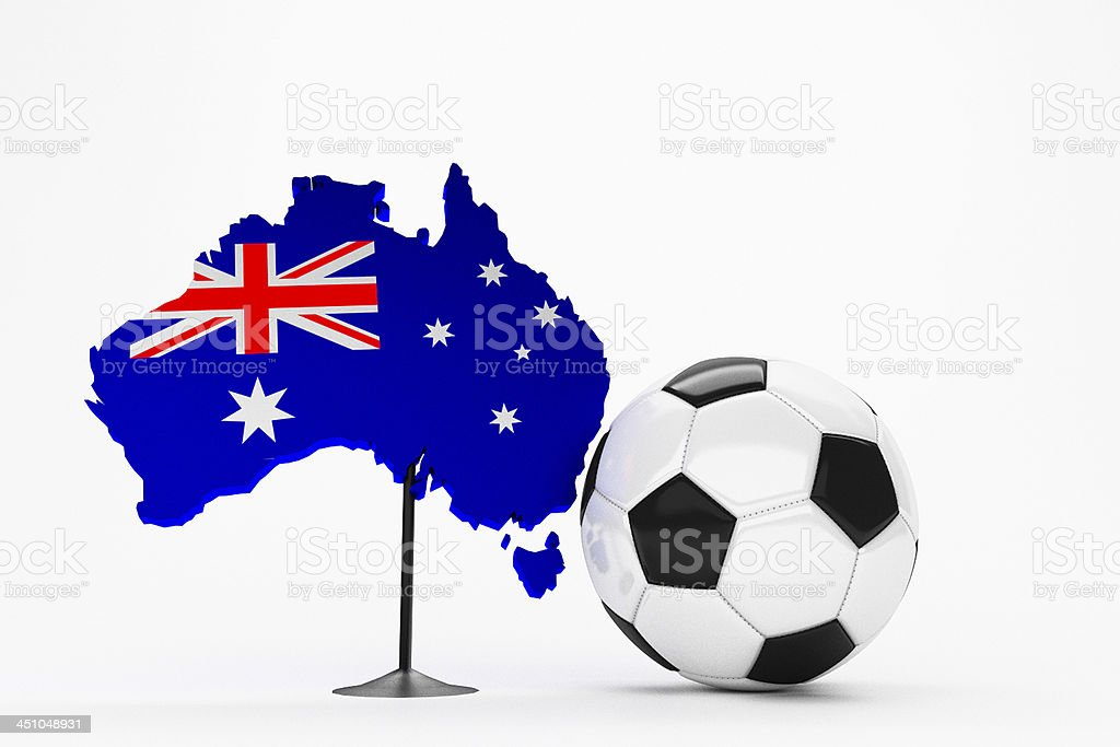 Fussball - Australien / Australia stock photo