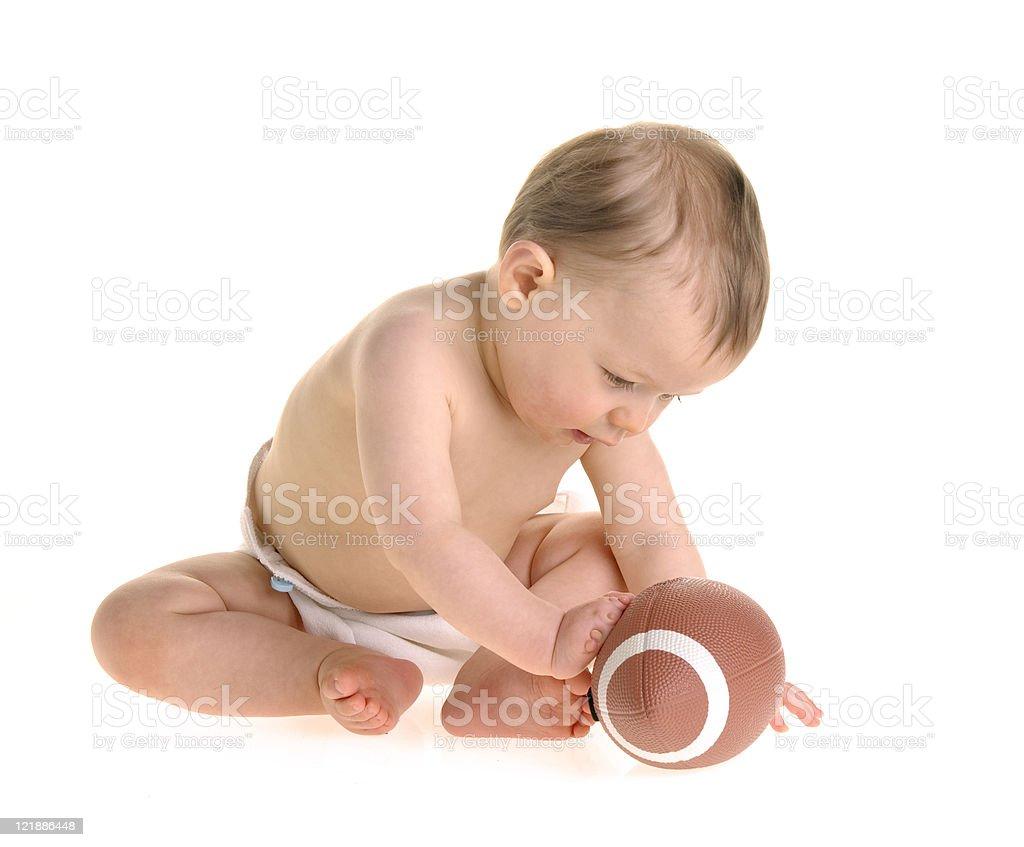Football Baby royalty-free stock photo