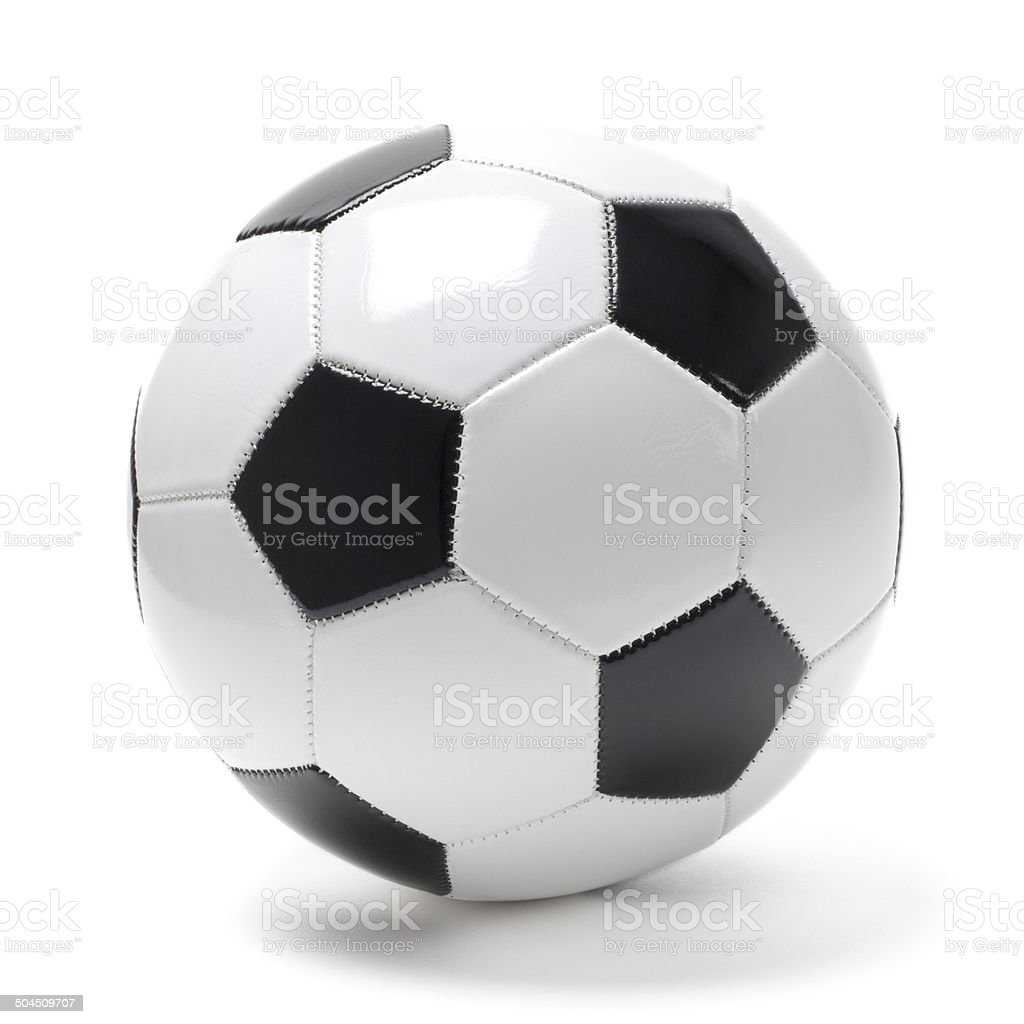 Football(Soccer) Ball on White- Stock Photo royalty-free stock photo