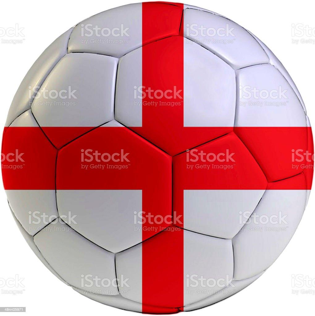 Football ball with England flag royalty-free stock photo
