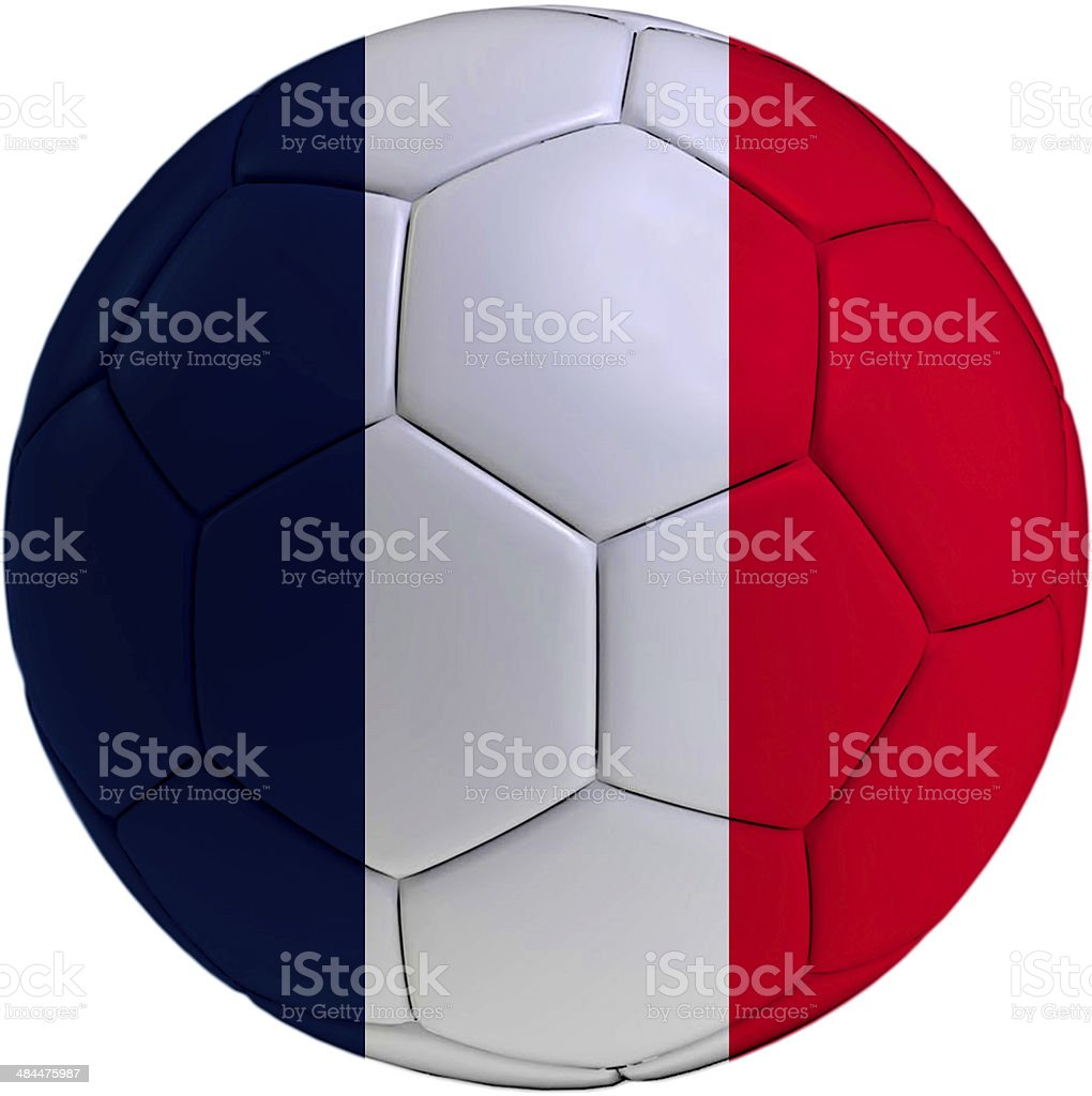 Football ball with France flag royalty-free stock photo