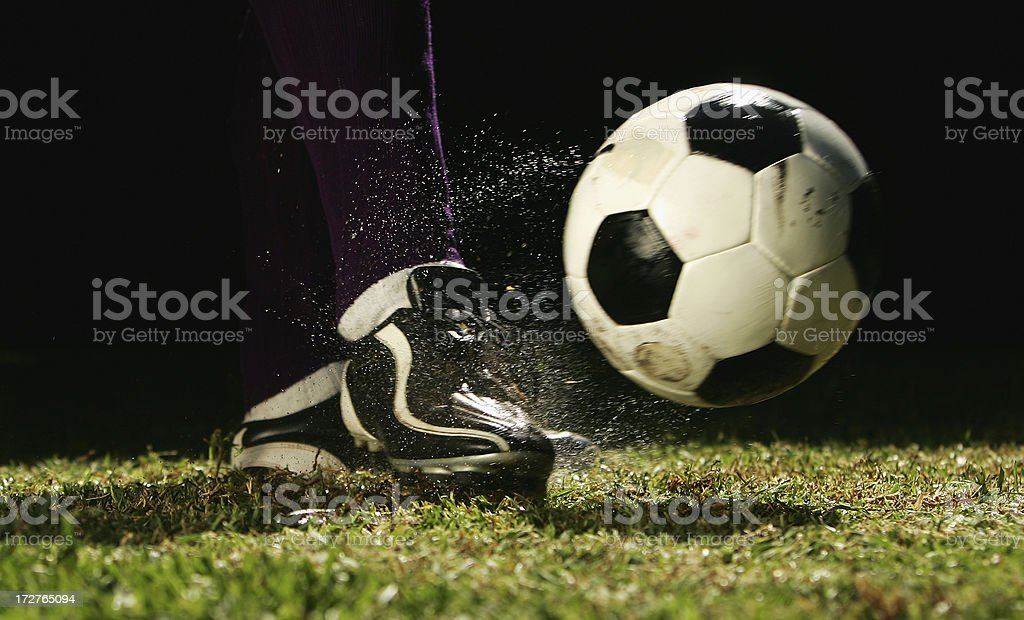 Football being Kicked royalty-free stock photo