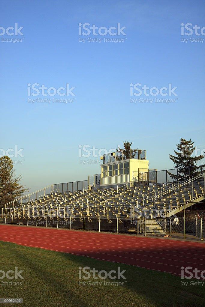 Football Bleachers stock photo