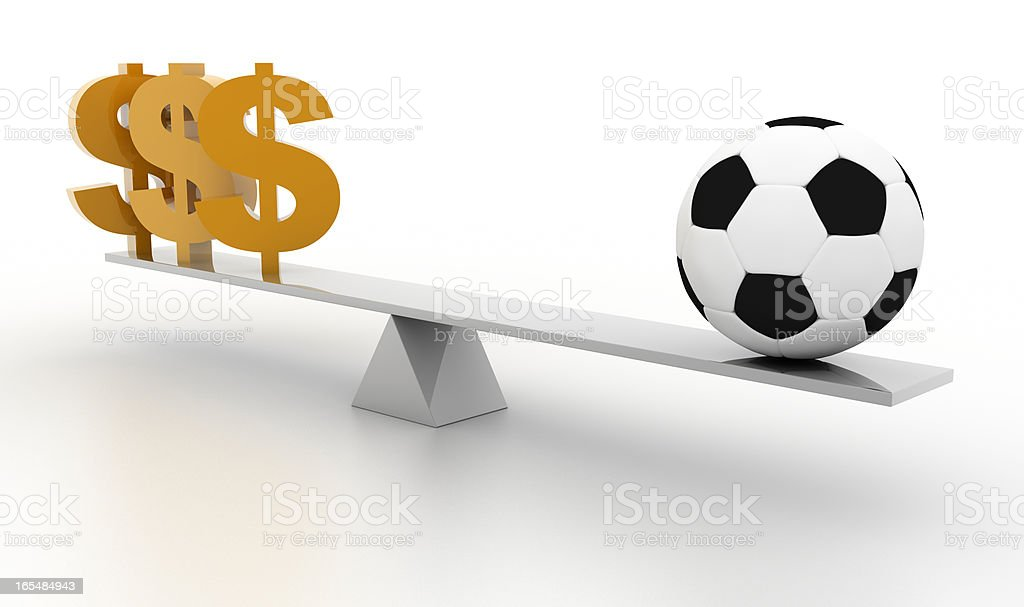 Football business (isolated on white) royalty-free stock photo