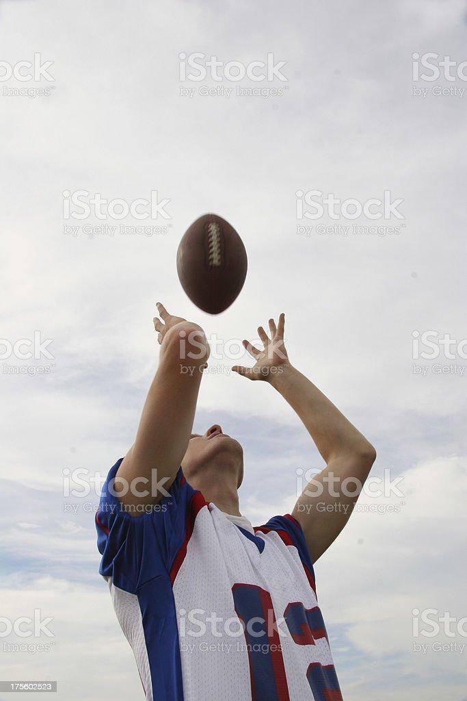 football catch stock photo