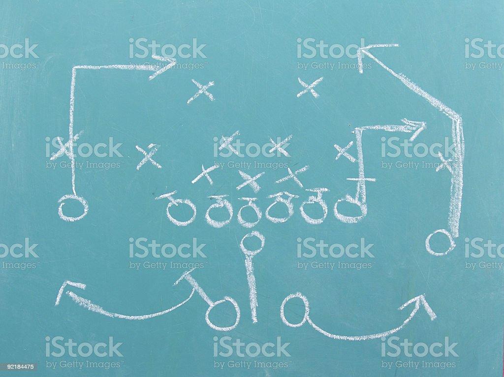 Football Chalk Play stock photo