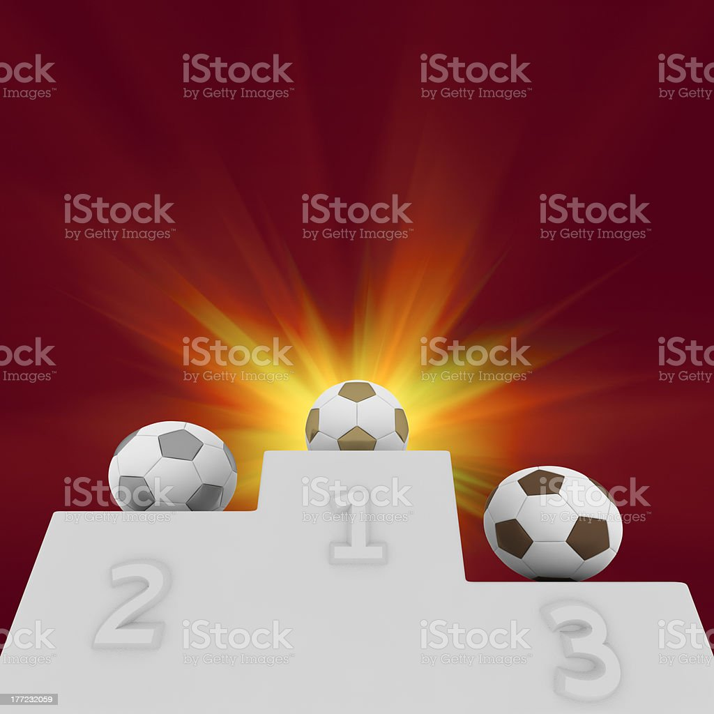 Football champions royalty-free stock photo