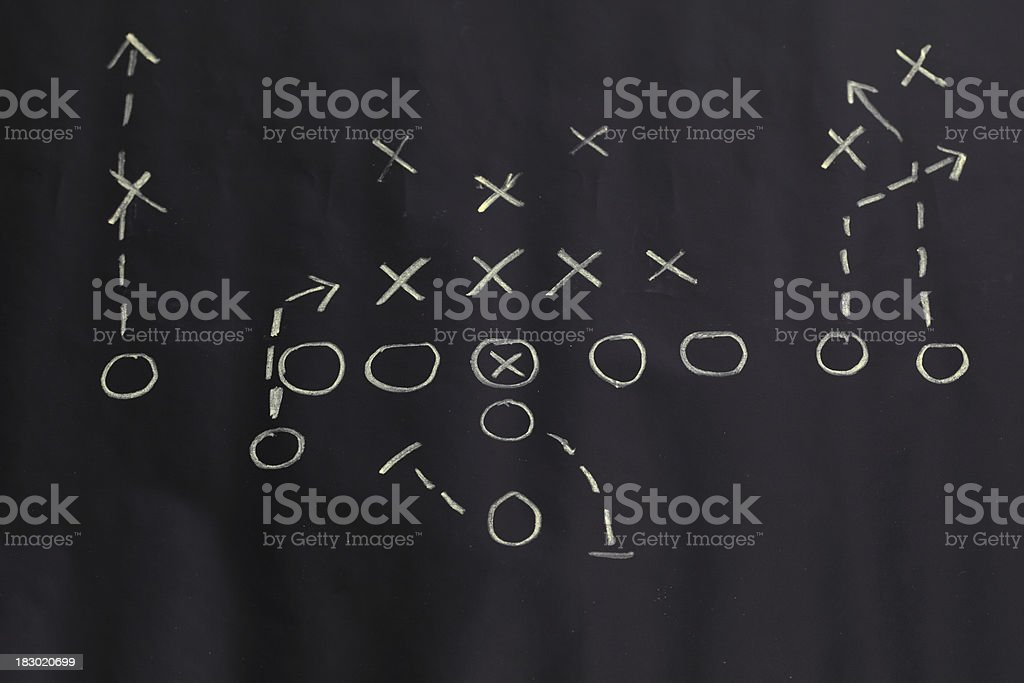 Football chart royalty-free stock photo