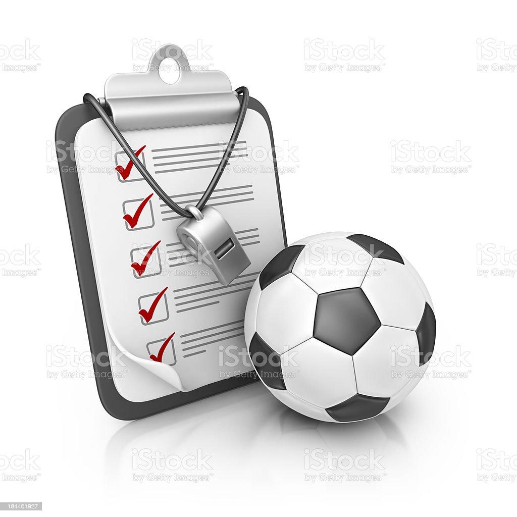 football coach clipboard royalty-free stock photo