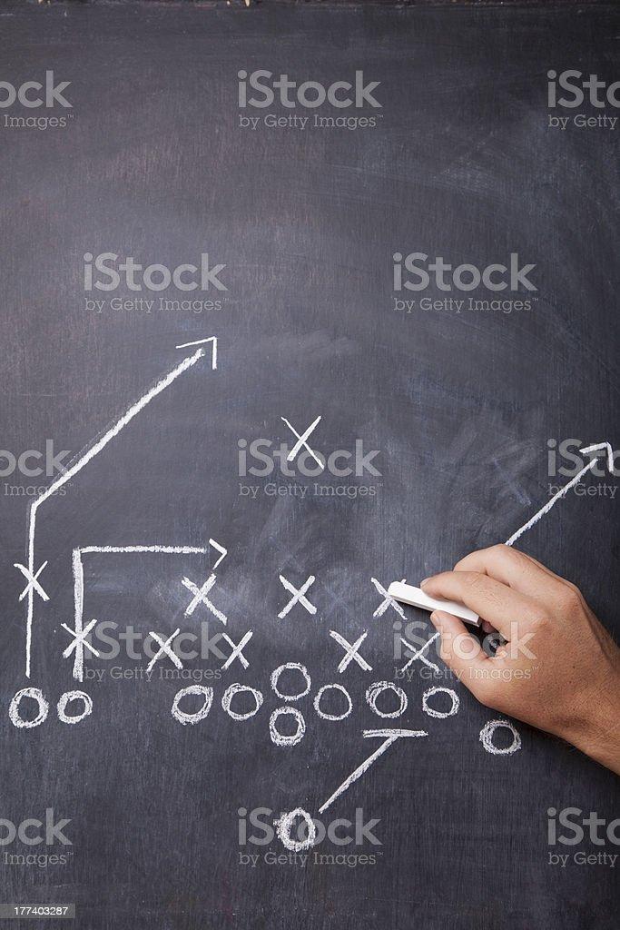 Football Coach Draws Play stock photo