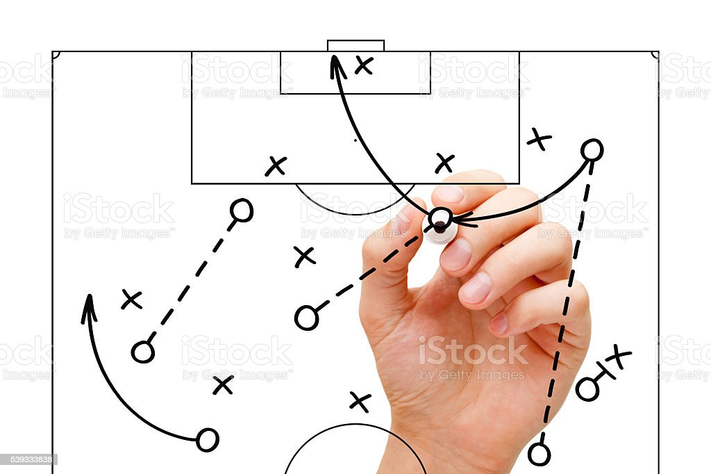 Football Coach Game Strategy stock photo