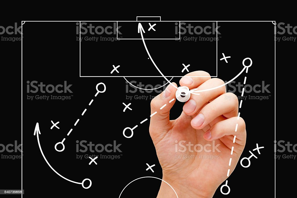 Football Coach Game Tactics stock photo