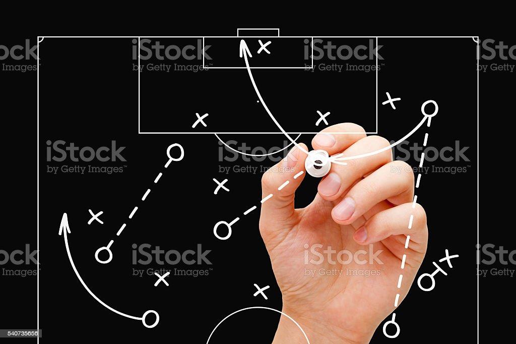 Football Coach Game Tactics stock photo