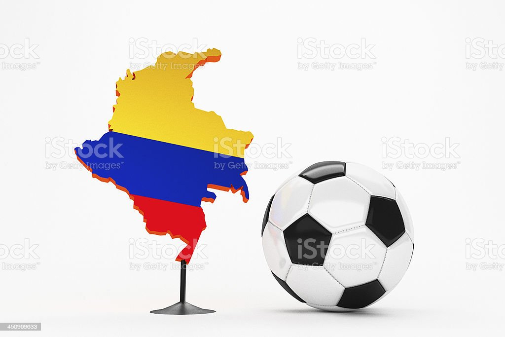 Fussball - Kolumbien / Colombia stock photo