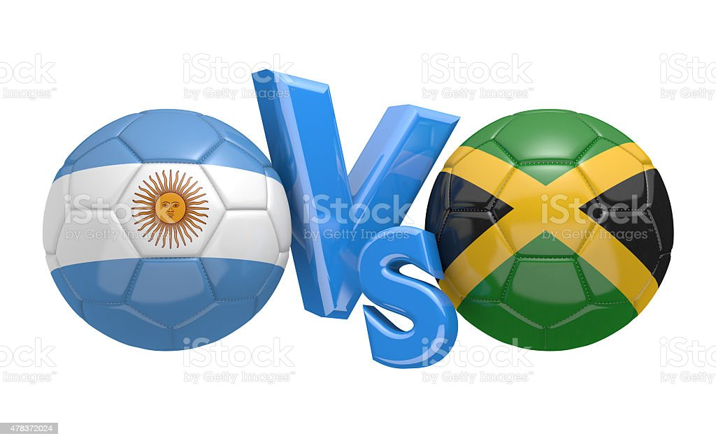 Football competition, national teams Argentina vs Jamaica stock photo