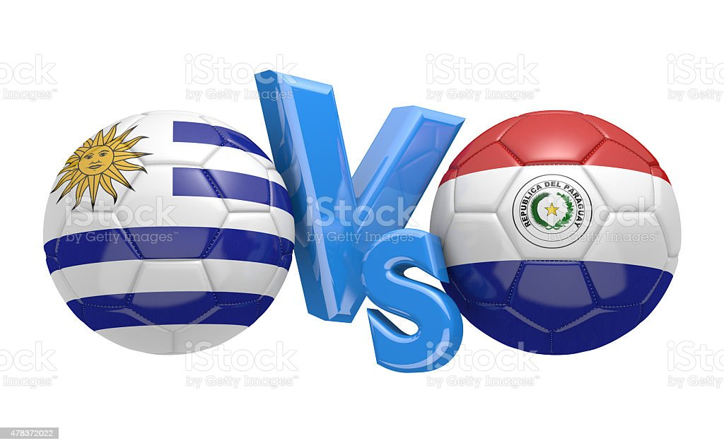 Football competition, national teams Uruguay vs Paraguay stock photo