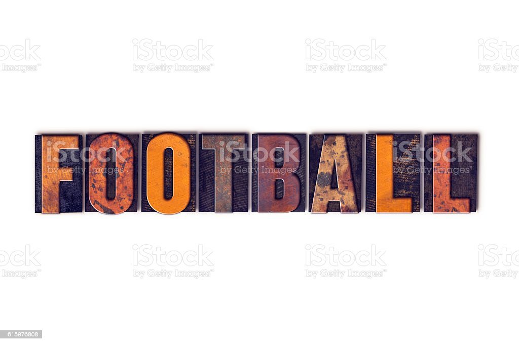 Football Concept Isolated Letterpress Type stock photo